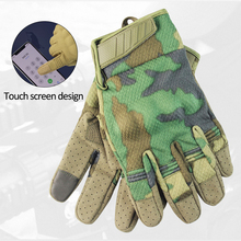 Touch Screen Tactical Gloves Men's Lightweight Sport Tactical Gloves Fingerless Army Summer Breathable Full Finger Riding Gloves
