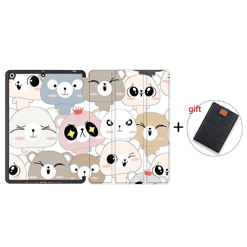 IPBC08 Gray MTT Tablet Case For iPad 10 2 7th 8th Generation 2020 TPU Back PU Leather Flip