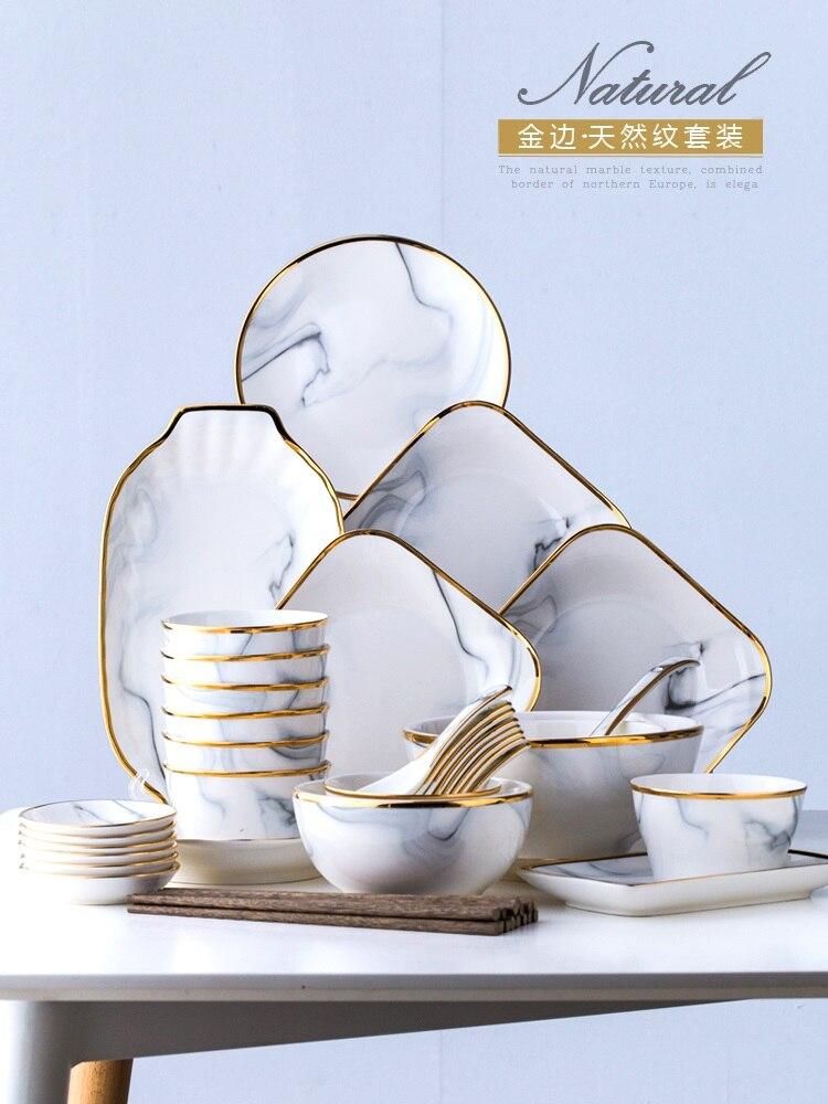Vaisselle de table bol de noël | Céramique au vent nordique, Phnom Penh en marbre, bol de noël, bol plats à soupe et plats à usage domestique