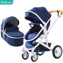 Belecoo детская коляска может сидеть, наклонная коляска прогулочная Складная двухсторонняя четырехколесная амортизатор