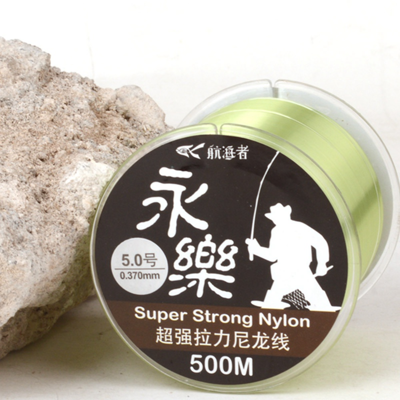 New Light green Nylon Fishing Line <font><b>8</b></font> Strands <font><b>500</b></font> Meters Smooth Durable Fishing Rope For River Lake Angling image