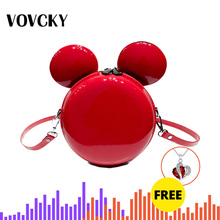 2019 Fashion Women Mini Handbag High Quality Shiny Cartoon Mickey Crossbody