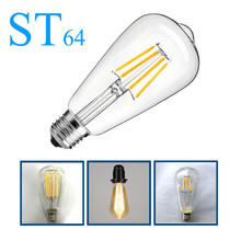 220v 2w 4w 6w 8W 12W LED lámpara st64 Vintage Edison bombilla e27 incandescente bombilla en oferta