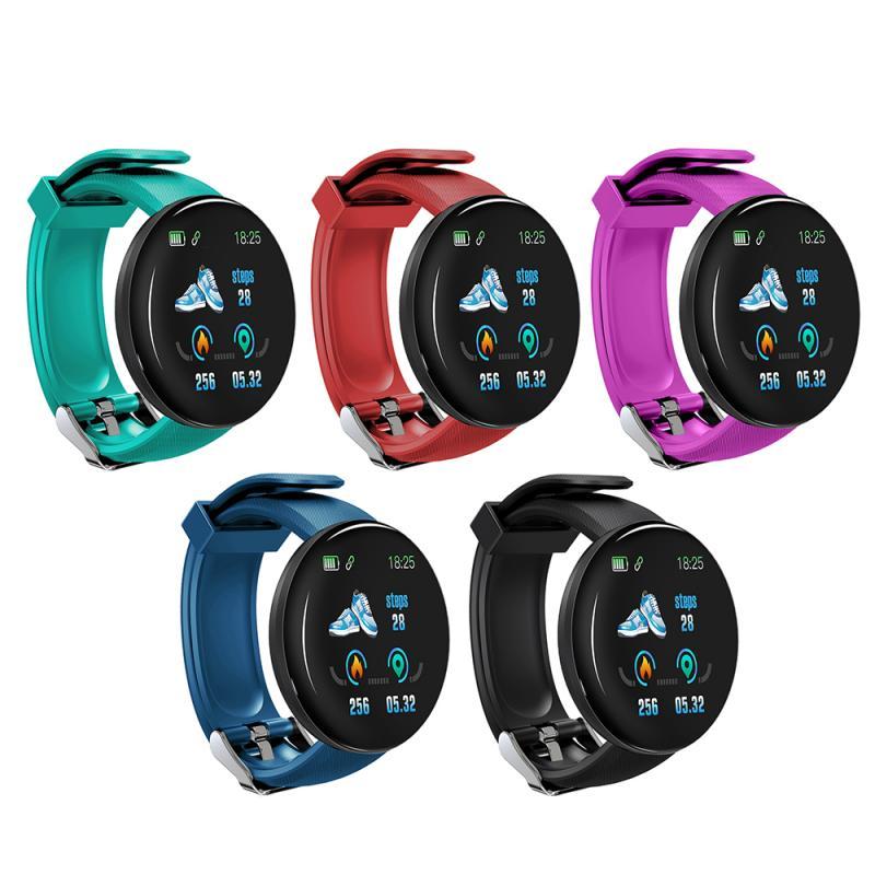 D18 Women Men Sport Watch Smart Watch Fitness Tracker Blood Pressure Heart Rate Monitor Clock Smartwatch Waterproof Bracelet
