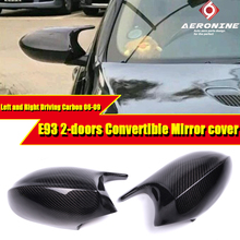 For E93 3-Series Convertible 100% Real Vacuumed Dry Carbon Fiber Mirror cover Caps Add on Style M3 Look 2-Pcs Replacement 06-09