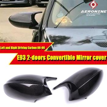 Per E93 3-Serie Convertibile 100% Reale Aspirato copertura Dello Specchio della Fibra di Carbonio a Secco Caps Aggiungere sullo Stile M3 Look 2-Pcs di Ricambio 06-09
