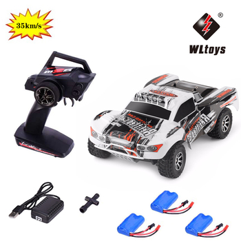 цена на 1:18 Wltoys A969-A 2.4G 1/18 Scale 4WD RC Speedcar 35km/h Remote Control Racing High Speed Shockproof Off-Road Metal Car White