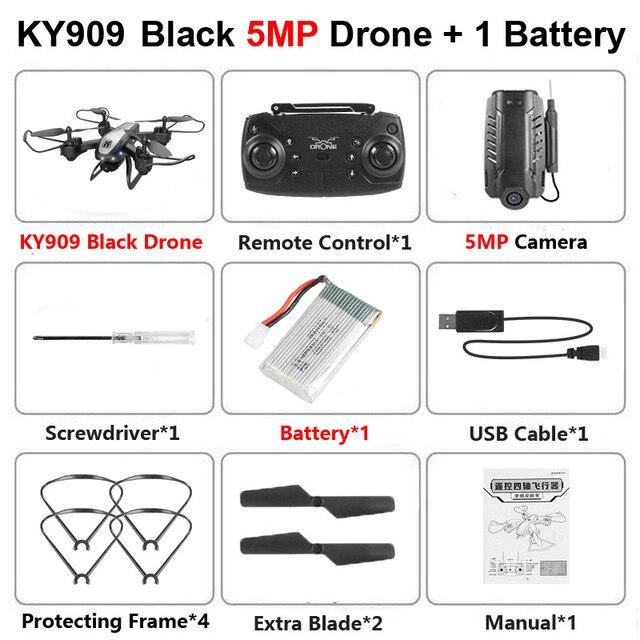 KY909 RC WiFi Дрон с 4K широкоугольной WiFi HD камерой оптический поток RC складной мини Квадрокоптер Вертолет VS LF606 E58 M69 F11 - Цвет: Red 500W Camera