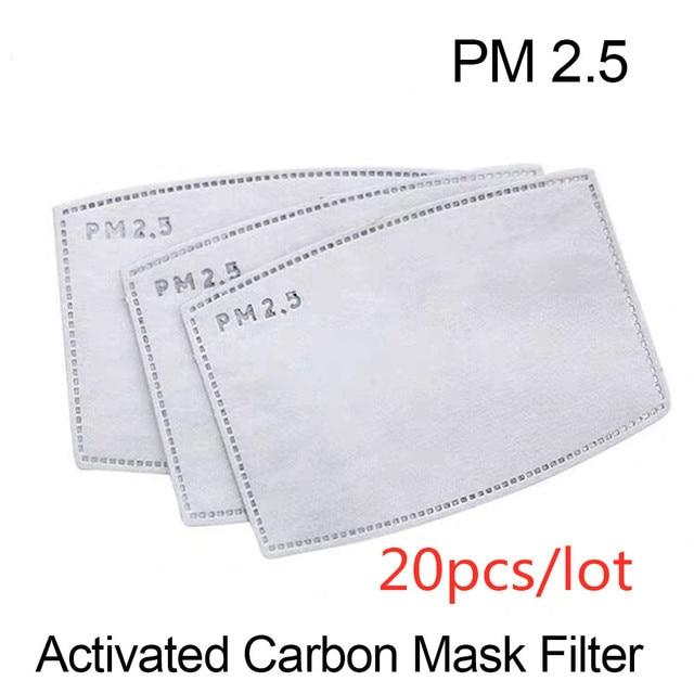 VIP FASHAION 20pcs/Lot Disposable PM2.5 Adult Filter Mouth Mask Anti Haze Bacteria proof Flu  Kid Mask Filter Paper Health Care