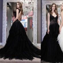 Пикантные черные сапоги в готическом стиле свадебное платье