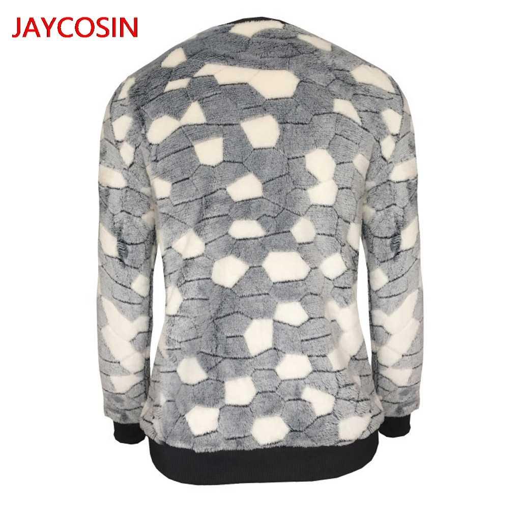 JAYCOSIN セーター 2019 ファッション女性カジュアル O ネックセーター長袖石プリントトップス女性冬 L300806