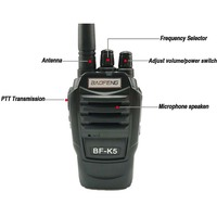 מכשיר הקשר 2pcs ניו Baofeng BFK5 מכשיר הקשר 5W UHF Portable חובב BFK5 Comunicador K5 Ham Radio טווח תחנת Handy Politie סורקים (2)