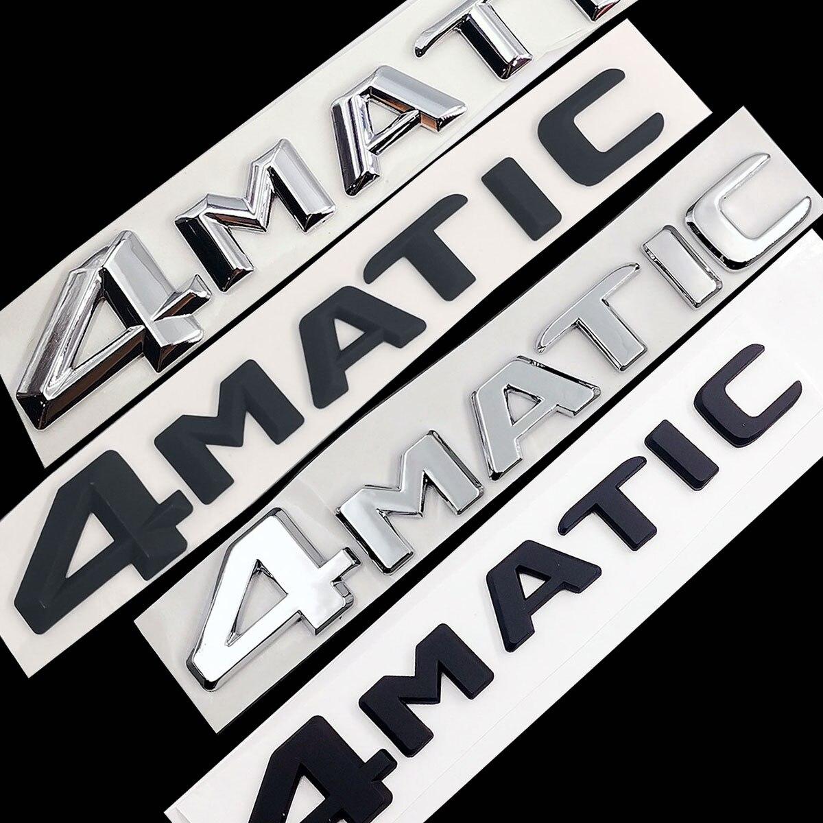 Для Mercedes Benz A B C E G S ML SL CL GLA CLA Class AMG 4matic 4matic багажник хромированные матовые черные буквы эмблема значок наклейка