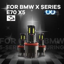 IP65 beyaz 6000K Ultra parlak yüksek güç 16 LED LED melek gözler işık BMW X serisi E70 X5 (Pre lci) 2007 2008 2009 2010