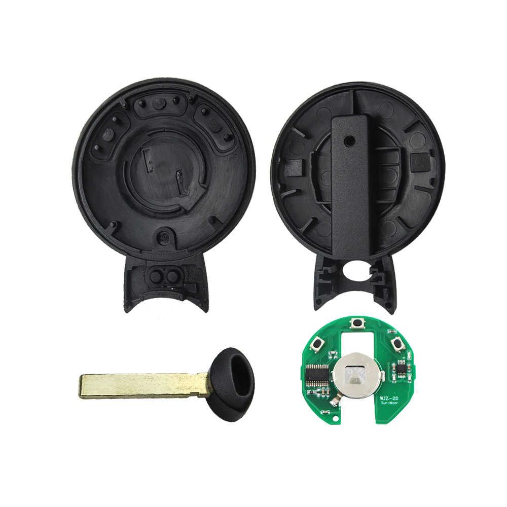 Llave Inteligente remota de OkeyTech para Bmw Mini Cooper reemplazo de 3 teclas de botón de entrada sin llave hoja de inserción en blanco ID46 PCF7945 chip