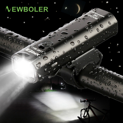 NEWBOLER latarka do rowerów 2200mAh USB rower na akumulator przednie światła z tylnym światłem lampa przednia do roweru LED akcesoria do Lamp