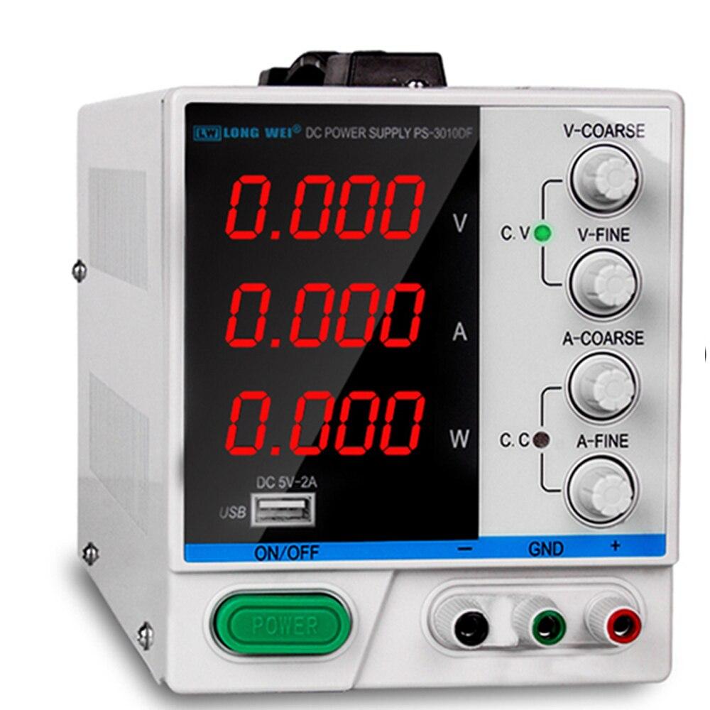 4 цифры DC Lab источник питания 30В 10А светодиодные цифровые регуляторы напряжения Регулируемый источник питания ремонтный инструмент 110В 220В