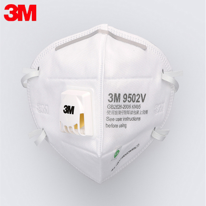 3M KN95 N95 Mask FFP2 Protective Fold Masks 9501V 9502V 9001V+ With Valve Anti Dust Protective Dustproof PM2.5 Mask