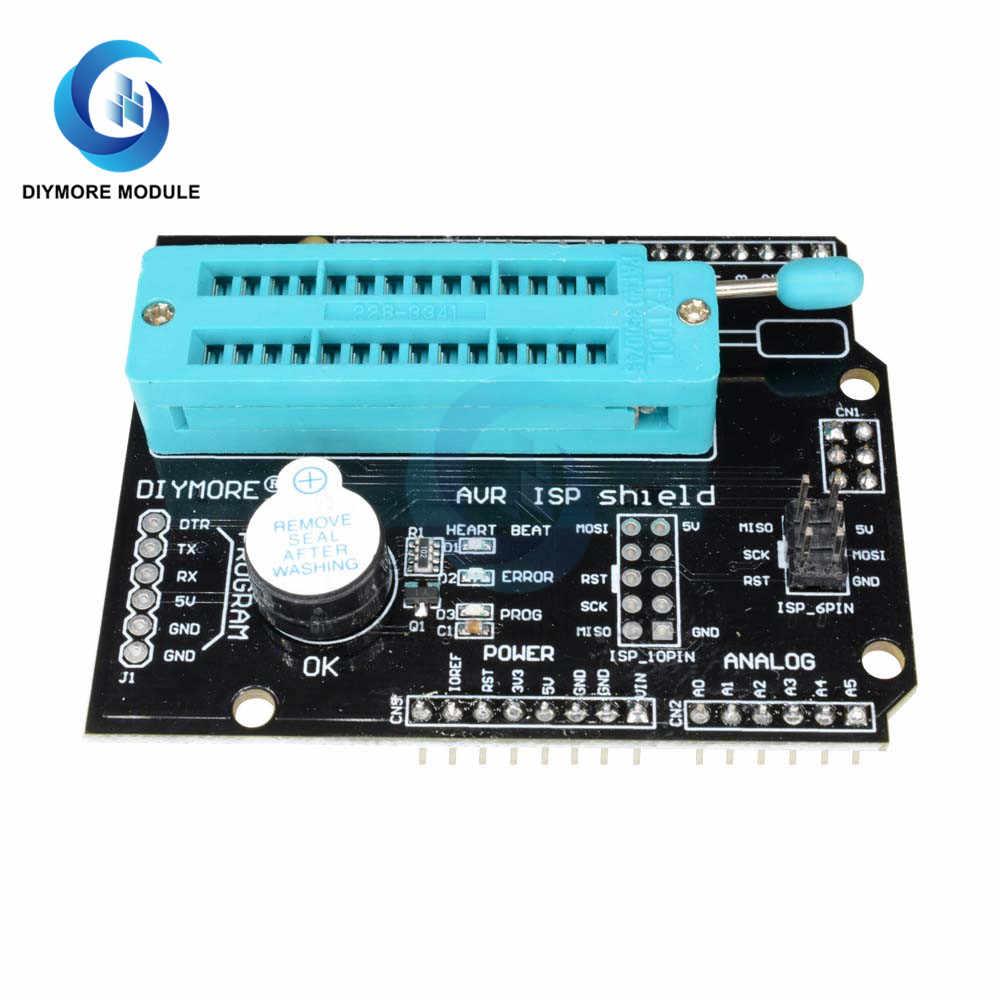 AVR ISP модуль расширения программы с зуммером Светодиодный индикатор для Arduino UNO R3 Mega2560 Nano pro mini 5V 16M Bootloader