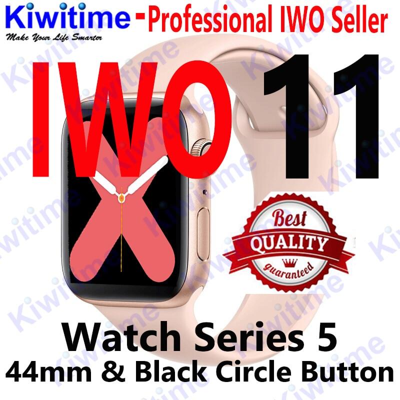 KIWITIME IWO 11 GPS Bluetooth reloj inteligente 1:1 SmartWatch 44mm caso para Apple iOS Android cardíaca sangre presión IWO 10 actualización - 2