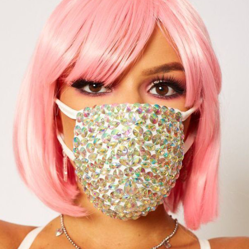 Cotton Dustproof Mouth Face Mask Diamond Special Festival  Party Women  Face Mouth Masks