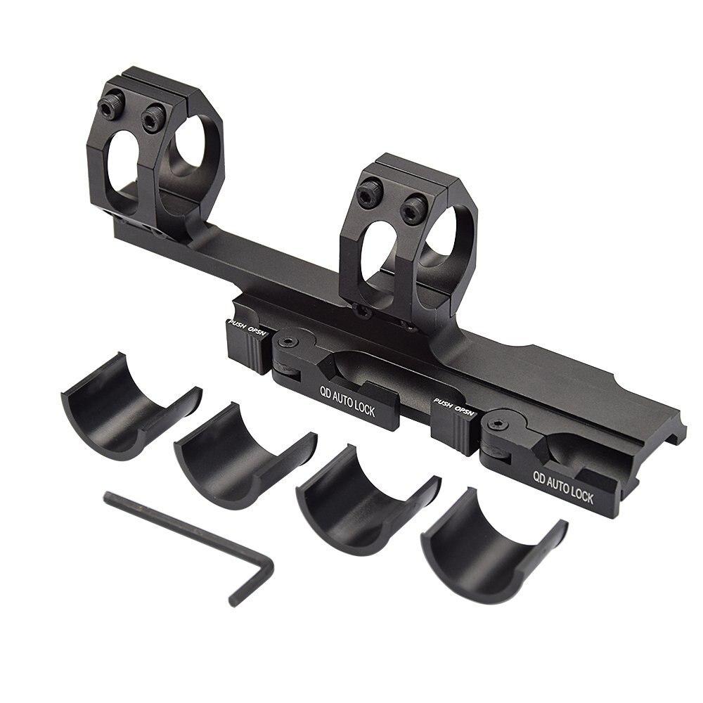 montagem aneis 30mm 25mm cantilever para 20mm picatinny ferroviario optica 05