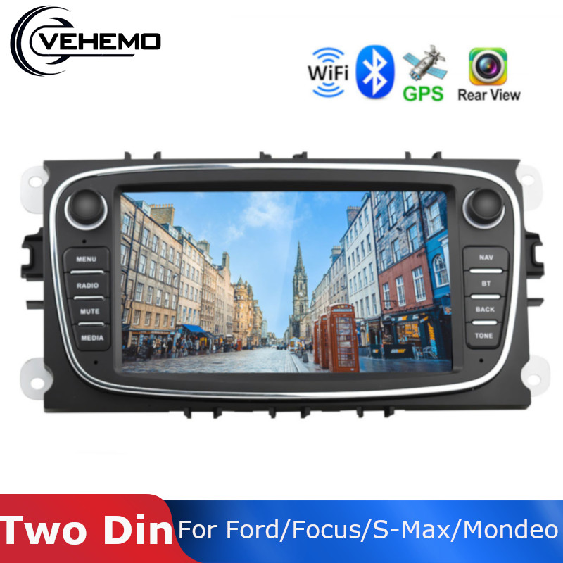 Vehemo Multimedia player Auto DVR Kamera 7 Android 8.1 MP5 Spielen Radio WiFi 2 din Für Ford/Focus/ s Max/Mondeo 9/GalaxyC Max GPS