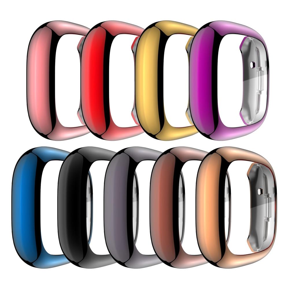 Мягкий чехол из ТПУ Для Fitbit Versa 3 2 1 и Sense водонепроницаемый чехол для часов Защитная пленка для экрана для Fitbit Versa 3 Полный Чехол