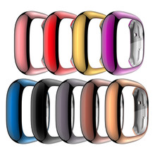 Soft Tpu Case for Fitbit Versa 3 2 1 & Sense Waterproof Watch Shell Cover Screen Protector for Fitbit Versa 3 Full Cover Case