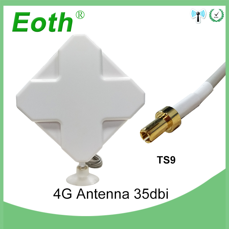 Eoth 3G 4G LTE Antenna TS9 Male Connector 35dBi With 2m Extension Cable For 4G Modem Router Antena 4G Antenne