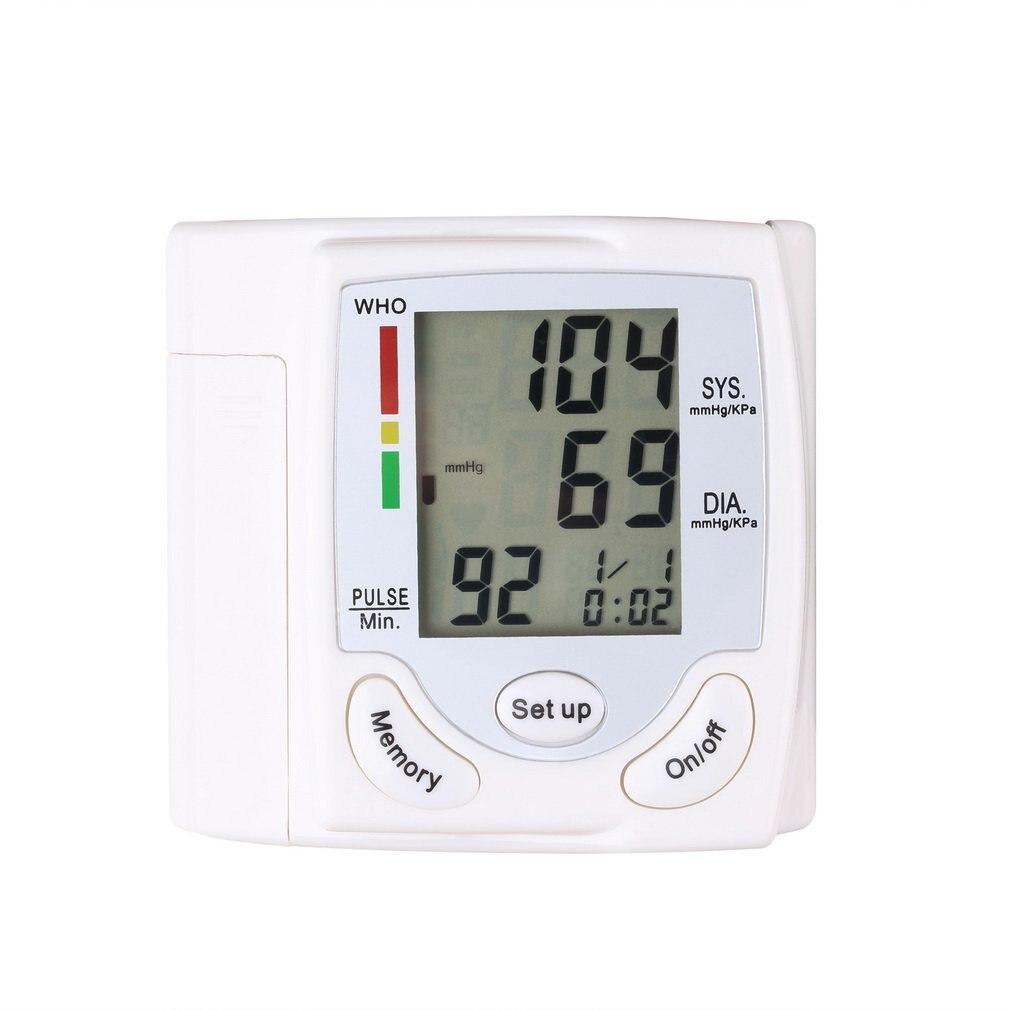 Подарки Автоматическая цифровая ЖК-дисплей Дисплей устройство для контроля кровяного Давление пульса и частоты сердечных сокращений, с жидкокристаллическим экраном измеритель кровяного давления
