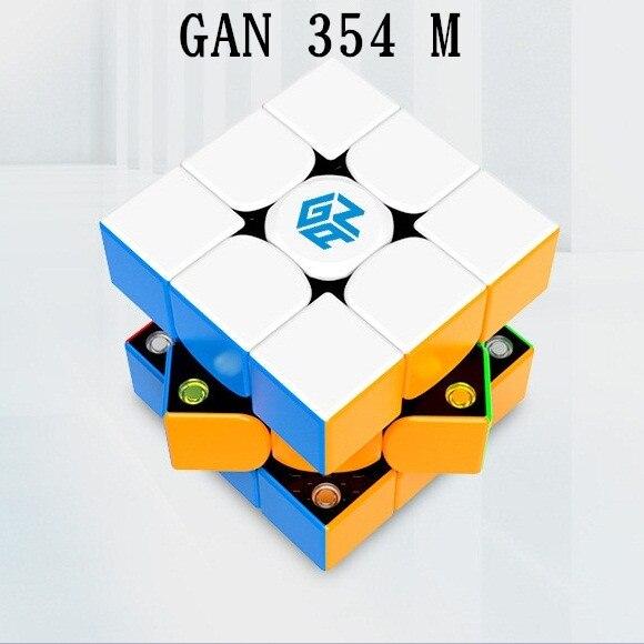 Original Gan 354 M V2 Magnetic Puzzle Magic Speed Cube 3x3 Stickerless Professional Gan354 M Magnets Cubo Magico GAN354M Toy