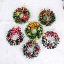 Inxens Mini Christmas Wreaths for Crafts Ornament Decorations Set of 12