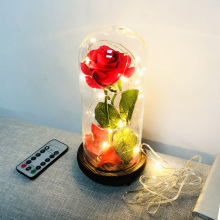 LED Beauty Red Rose With Remote Control 8 Light  Modes  For Valentine's Day Graduation Day Anniversary Birthday Gifts D25