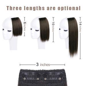 Штампованные славных заколки для волос Короткие прямые шиньоны для Для женщин Невидимый заколки для волос для истончение волос добавляя об...