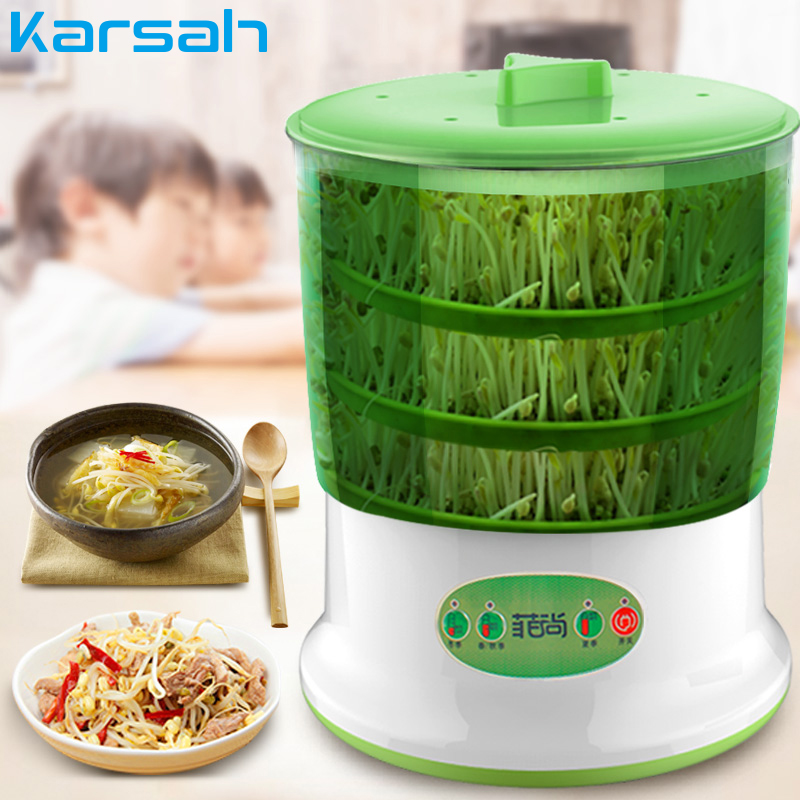 Large Capacity Intelligence Bean Sprouts Machine Home Thermostat Green Seeds Growing Automatic Bean Sprout Machine US Plug image