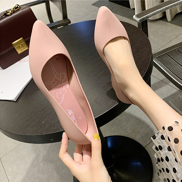He9c5c69cf8f244eebf7167f8b2c5d3b27 Maggie's Walker Beach Shoes Women Jelly Sandals Summer Pointed-toe Slip-on Resin Wedges Sandals Rain Shoes Size 36~40