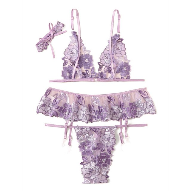 New Sexy Lingerie Women Exotic Apparel Bodydoll Lace Embroidery Underwear Set Sexy Erotic Chemise Sleepwear Costumes Mujer