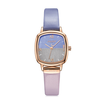 Small Square Double Colors Elegant Women's Watch Japan Mov't Lady Hours Fine Fashion Leather Bracelet Girl's Gift Julius Box