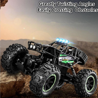 High Speed Remote Control Climbing Car 2.4G 4WD Driving Independent Suspension Shock Absorber Big Foot RC Car With LED Light