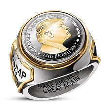 Модные президент США Трамп кольцо последней из нержавеющей стали ювелирные изделия нержавеющей стали президент США мужские Прохладный кол...