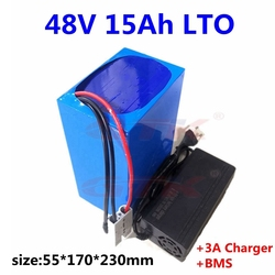 48v 15ah LTO Lithium titanate battery 20S BMS for 48v bakfiets vehicle bike ebike electric motorcycle hybrid scooter +3A charger