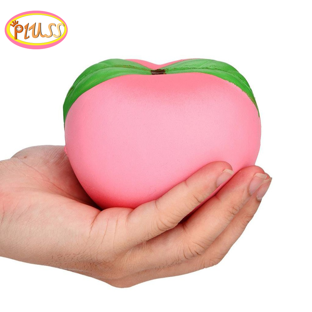 Jumbo Adorable Fruit Peach Squishy Simulated Fruit Slow Rising Bread Scented Squeeze Toy Stress Relief For Kid Xmas Gift 11x10CM