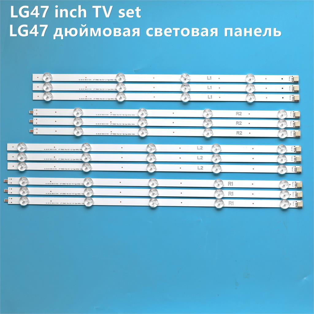 Barra de retroiluminação led para substituição, barra de faixa de retroiluminação led para lg › 47la620s › 47la620v lc470due