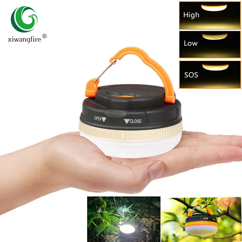 Super Bright Mini Portable Camping Lantern Night Light 3w 3 Modes Waterproof LED Camping Light Outdoor Emergency Working Lamp