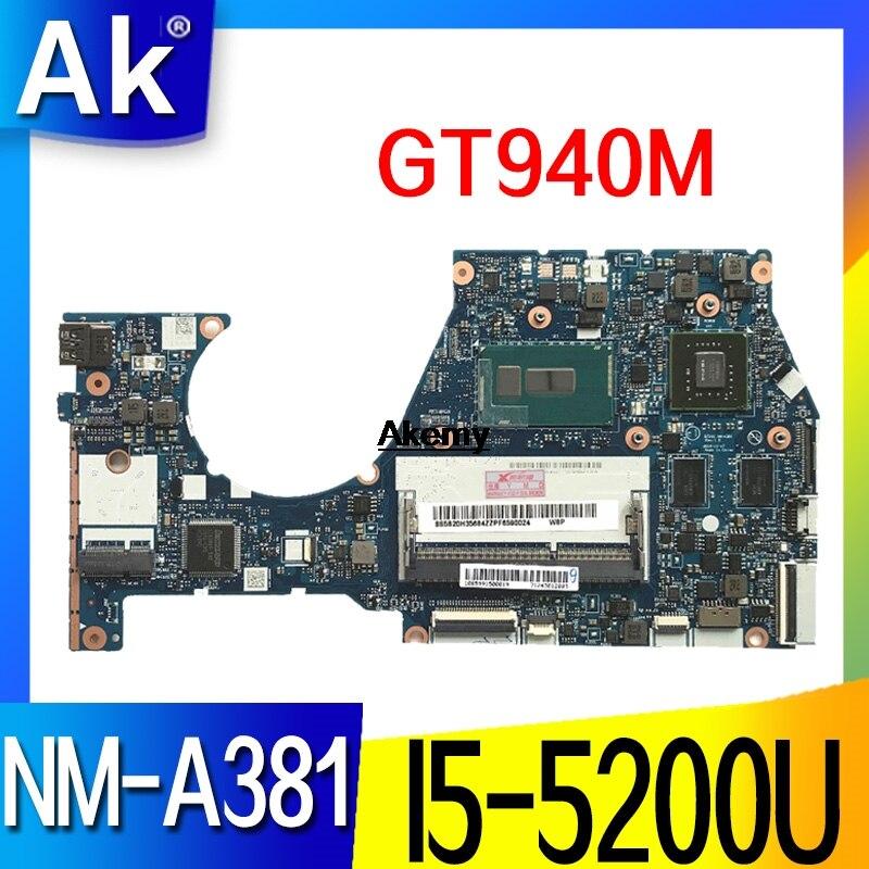 NM-A381 Laptop Motherboard For Lenovo YOGA3-14 Original Mainboard I5-5200U GT940M