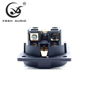 Image 5 - 4 pièces pur cuivre plaqué Rhodium or NeutralFI E30 AC 250V 16A ue Euro Schuko 2 broches IEC entrée prise de courant châssis prise