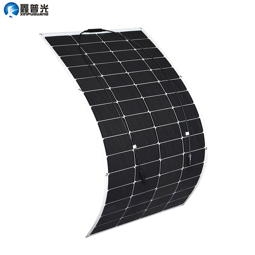 Xinpuguang Solar Panel Battery 145W 30V 150W Flexible New Efficient Solar Cell for 24V System DIY RV Car Marine Boat Home Charge
