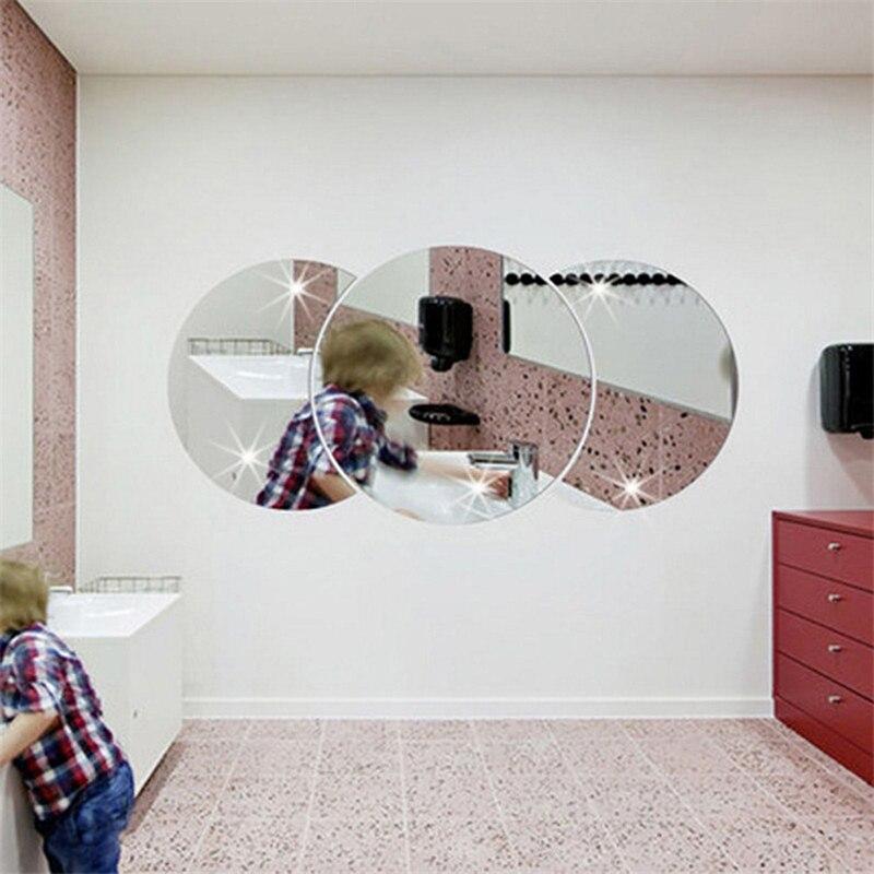 3d современные акриловые зеркальные настенные наклейки diy Художественный