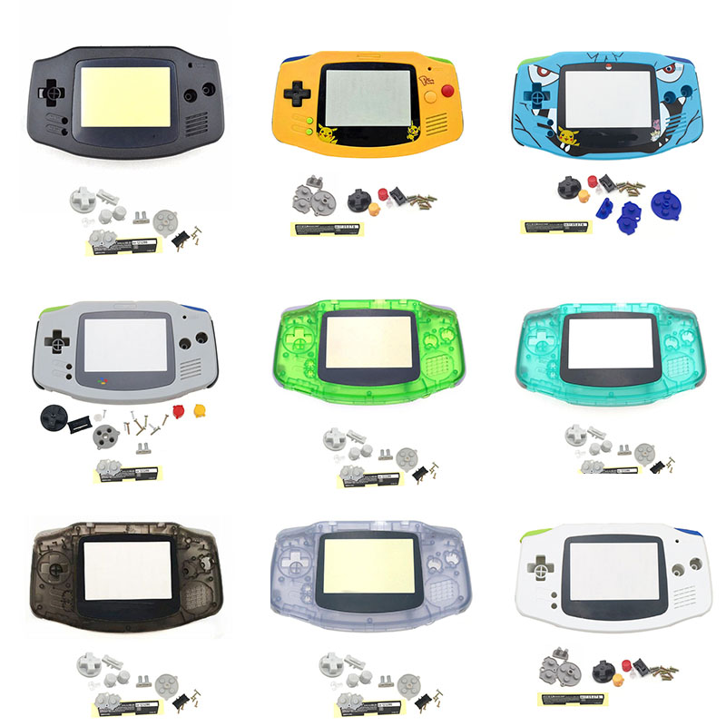 New Full Housing Shell For Nintend Gameboy GBA Shell Hard Case With Screen Lens Replacement For Gameboy Advance Console Housing
